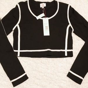 NWT Parker long sleeved crop top
